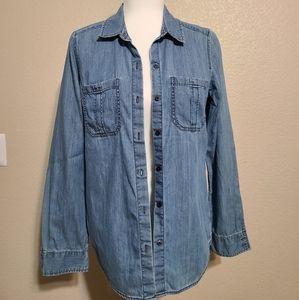 Express denim / jean button up shirt 🌵
